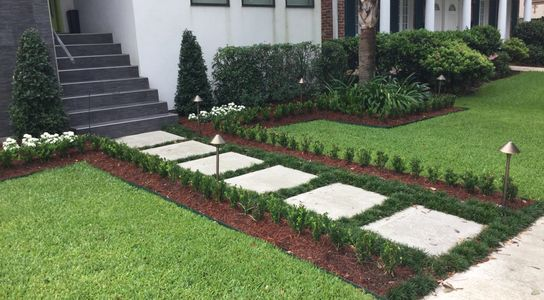 Formal landscape install metairie