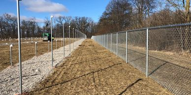 Solar array fence. Solar security fence. Chain link fence for solar field. Fence contractor in Ohio