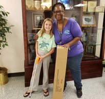Keep Cobb Beautiful - the wonderful Mrs. Dawn who donated a box of litter pickers to KIDS CARE.