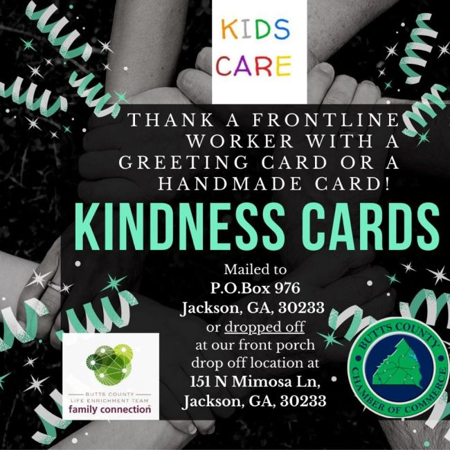 Butts County Participation in KIDS CARE Kindness Card Campaign