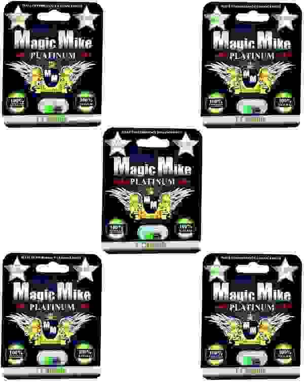 (5) Magic Mike Platinum Male Enhancement Supplement 1 Count Packets