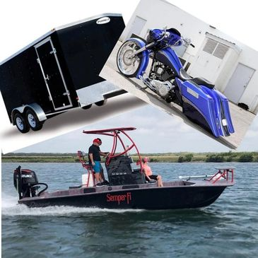 We Finance Boats, Motorcycles, Trailers and More.