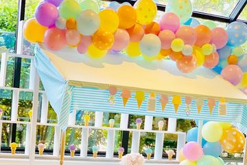 Organic Balloon Garland, Ice Cream Theme, Whats the scoop, Gender Rveal