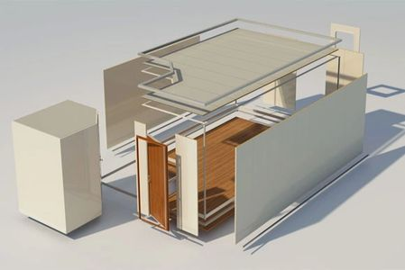 Typical marine accommodation layout, including B15 rated wall panels, ceilings, floor and doors.