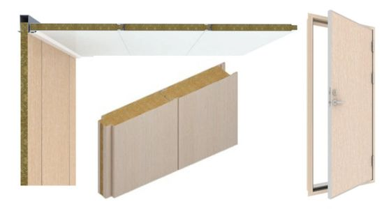B15 rated wall panels, ceiling panels and doors available from stock.