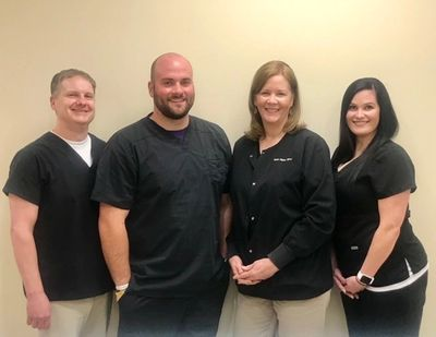 From left: Dr. Fredric Puckett, Wayne Kemp, FNP-C, Susan Hogue FNP-C, and Jareka Anderson, FNP-C
