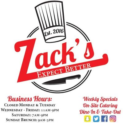 @ChefZackBlose cooks Farm to Table like no other restaurant. At Zack's you can Expect Better!