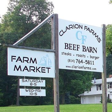 Clarion farms Beef Barn.