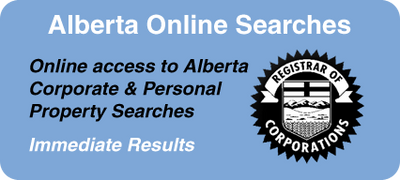 Corporate and personal property searches in Alberta