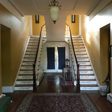 staircase, historic home, Delaware, stair builders, fine carpentry, interior decorating, classical