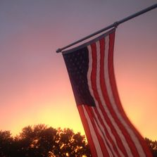 American Flag, Home, Sunset, Memorial, Veterans, Citizens, Honor, Patriotism, USA, American Workers
