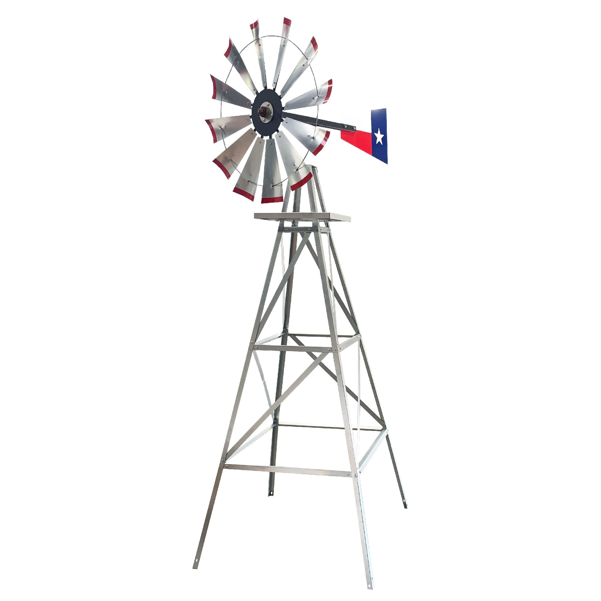 Windmill Double Sun//Blue//Red//Yellow 124 cm Large Formano Metal Windmill for Garden
