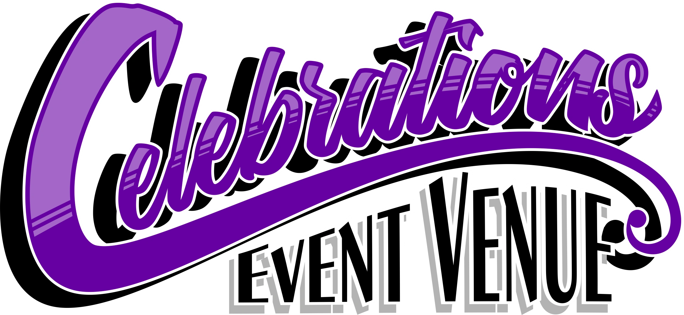 Custom logo image made for Celebrations Event Venue.