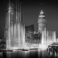 dubai fountain and burj khalifa by ahmad alnaji professional cityscape and architecture photograher