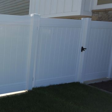 Steel Welded frame Vinyl Gates