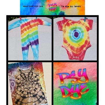 Tye tie dye baby clothes babygrow onsie rainbow unique handmade dyed tiedye tyedye psytrance trance