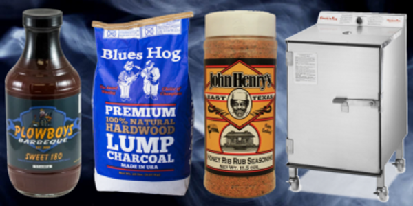 Add Smoke BBQ Supplies. SmokinTex, John Henry's, Plowboys, Blues Hog charcoal