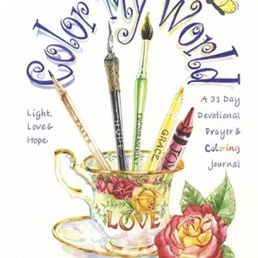 Inspirational Color My World - 31 Day Devotional Prayer Coloring Journal, Susan Pettit artist writer