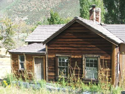 This is the original Clyde family cabin in Lone Pine Canyon that was used by Virgil and Wyatt Earp.