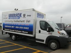 Free of charge to your community organization, the community events van has a closed cargo box.