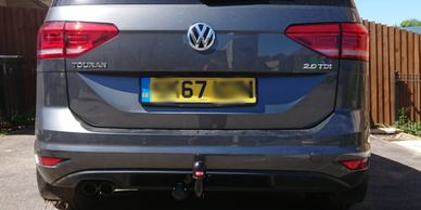 VW touran with a Witter fixed swan neck towbar and 7Pin electrics fitted in wellingborough