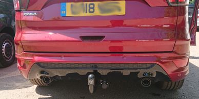 Ford Kuga ST with a Towtrust fixed swan neck towbar fitted in market harborough