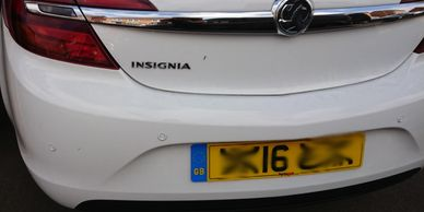 Rear parking sensors fitted to a Vauxhall Insignia