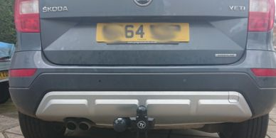 Skoda Yeti with a fixed towbar fitted in rushden
