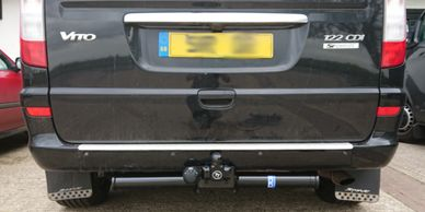 Mercedes Vito with a Towtrust fixed towbar fitted in Market Harborough