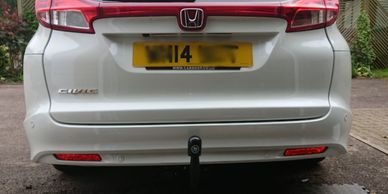 Honda Civic sports Tourer with a Tow-Trust detachable towbar fitted in Wellingborough