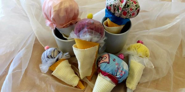 Sensory ice cream cones made for a PAMIS storytelling session.