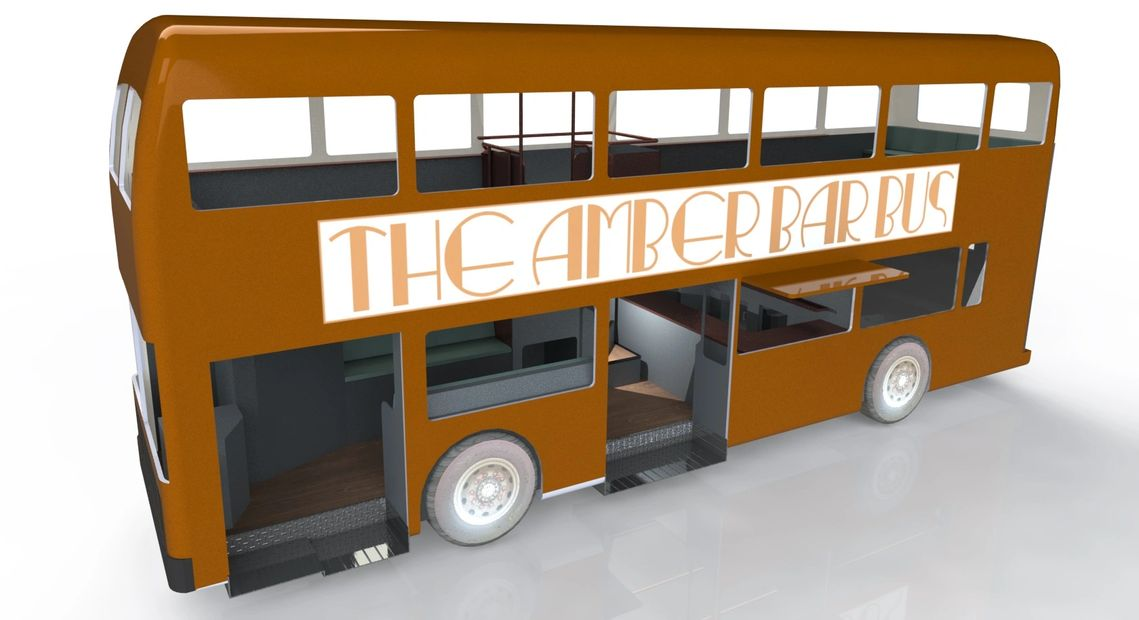 The Amber Bar Bus Ambers Vintage Mobile Bar Bus Bar Bus Hire Double Decker Bus Bar Party Bus Hire