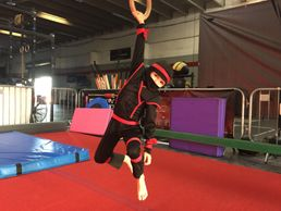 Ninja Warrior class for kids at Gymnastics Palace. Strength, flexibility, balance, coordination.