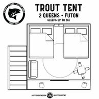 Trout Tent rustys roost river camp