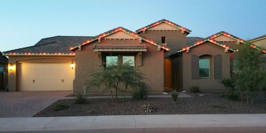 Custom holiday light installations