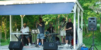 Summer concert series at  The Almont community Park