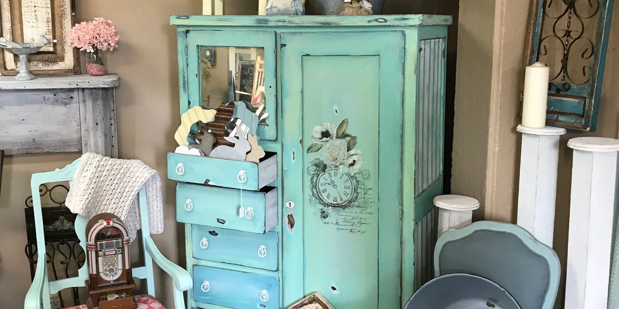 Vintage all wood furniture with Dixie Belle Makeovers