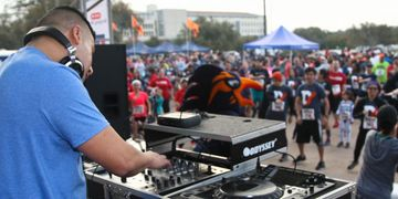 One Sound Productions DJ playing for outdoor event