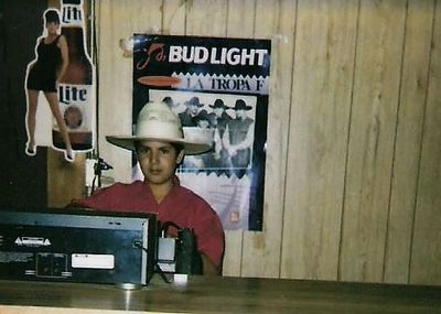 One Sound Productions Co-founder David De Paz DJing at his dad's bar at the age of 10