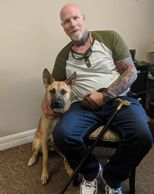 Sarge was rescued by Dale's friend and fellow veteran. He has graduated our   training program.