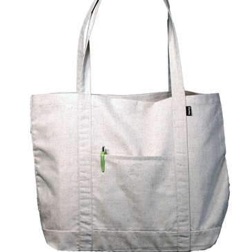 Recyclable grocery tote bag made from Hemp