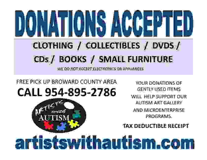 Donations accepted for Autism
