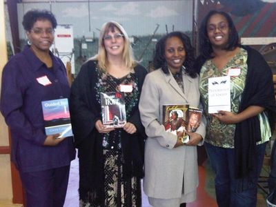 Here's a picture of some of my Authors and me with our books.
