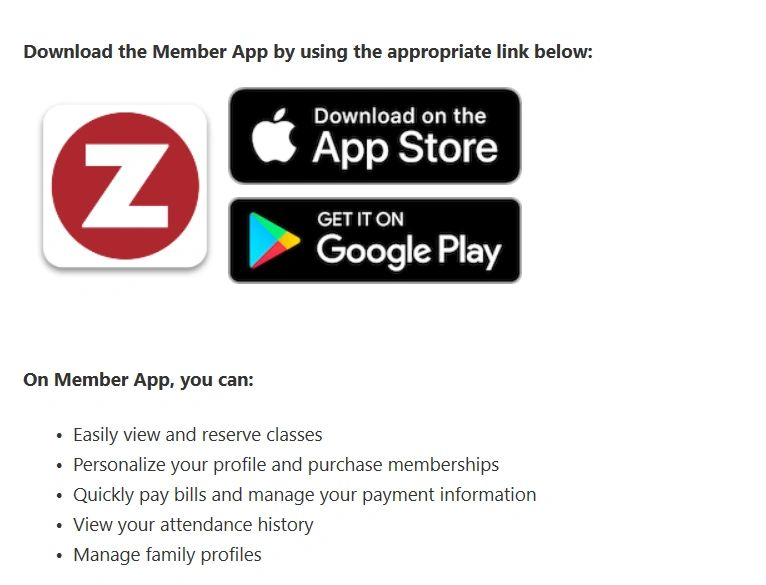 ZenPlanner IOS Android  Google Play Apple Store Account Management  Trainer  Tracker