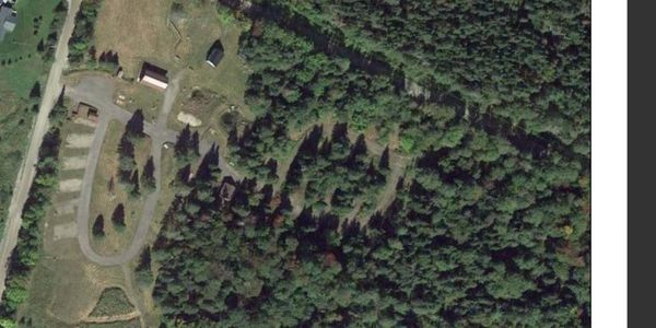 Aerial view of campground.