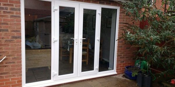 Outward opening UPVC French Doors fitted in Nottingham by our trained Mansfield fitters.