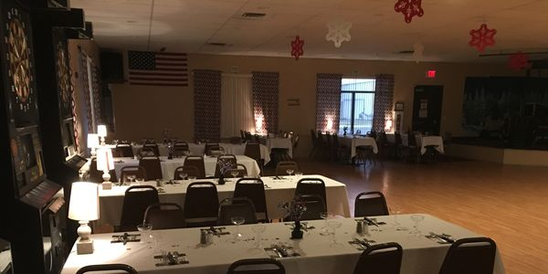 Banquet set for dancing