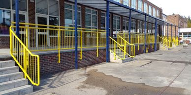 New railings -  Fabricated and installed
