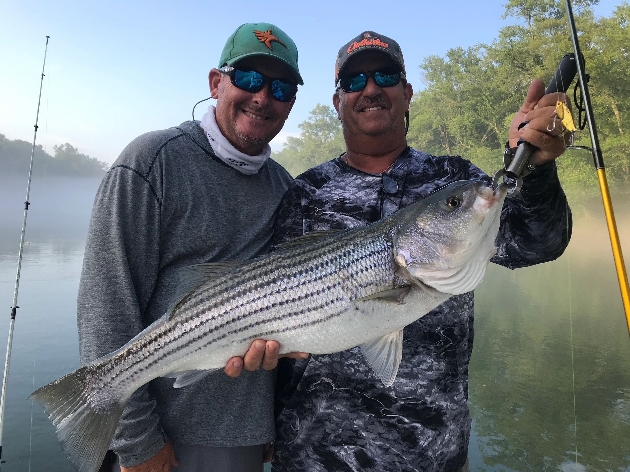 Fishing Guide on Lake Oconee. Striper fishing guide and Hybrid fishing guide.