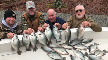Limits of monster crappie on Lake Oconee. Caught by BigFishHeads Guide Service. Captain Doug Nelms